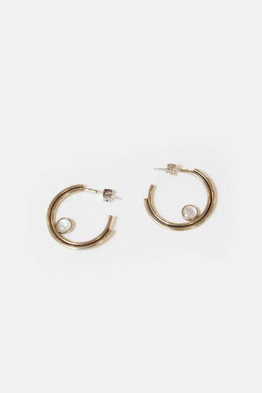 Artifacts NYC | Brass Arc Hoops | Mother of Pearl | Hazel & Rose | Minneapolis