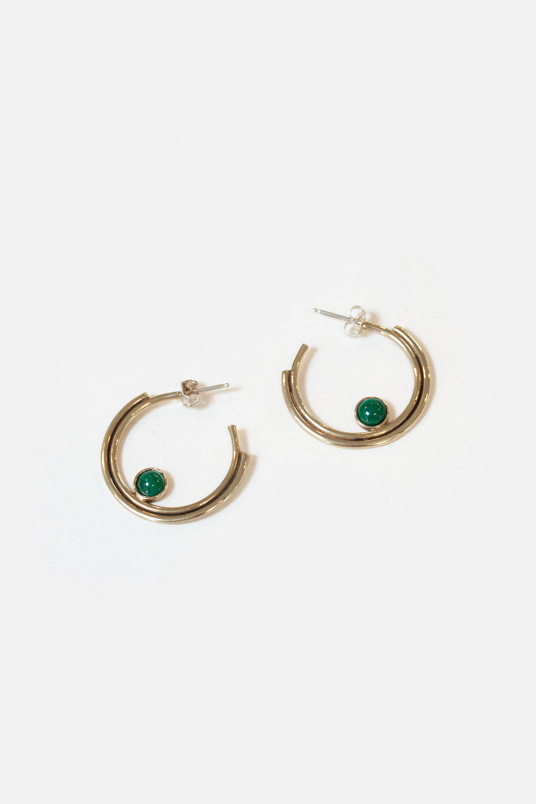 Artifacts NYC | Brass Arc Hoops | Malachite | Hazel & Rose | Minneapolis