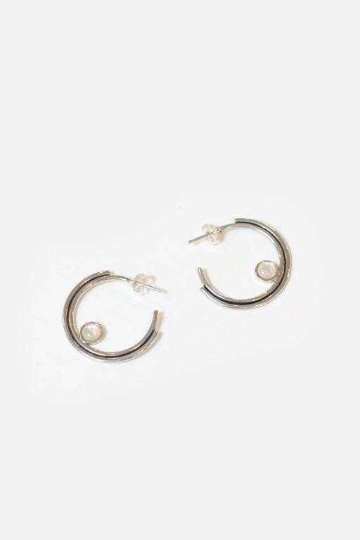 Artifacts NYC | Sterling Silver Arc Hoops | Mother of Pearl | Hazel & Rose | Minneapolis