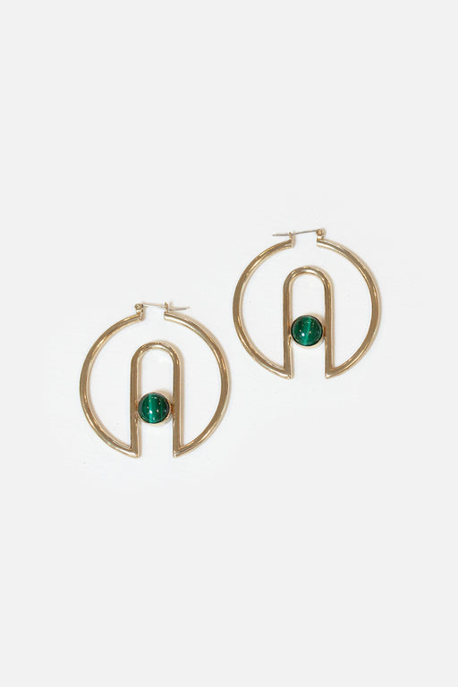 Artifacts NYC | Archway Hoops | Malachite | Hazel & Rose | Minneapolis