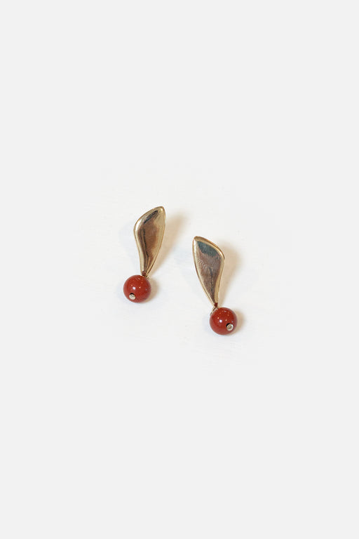 Artifacts NYC | Petal Earrings | Red Jasper | Hazel & Rose | Minneapolis