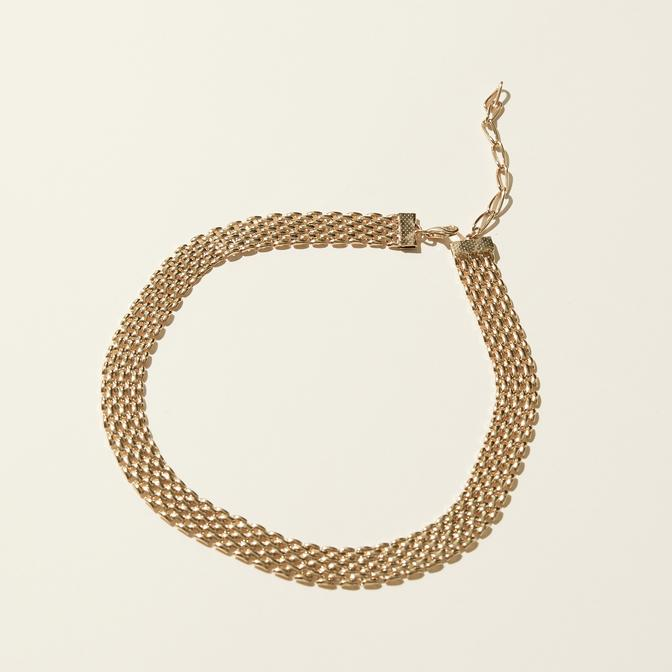Maslo Jewelry | Large Flat Chain Necklace | Hazel & Rose | Minneapolis