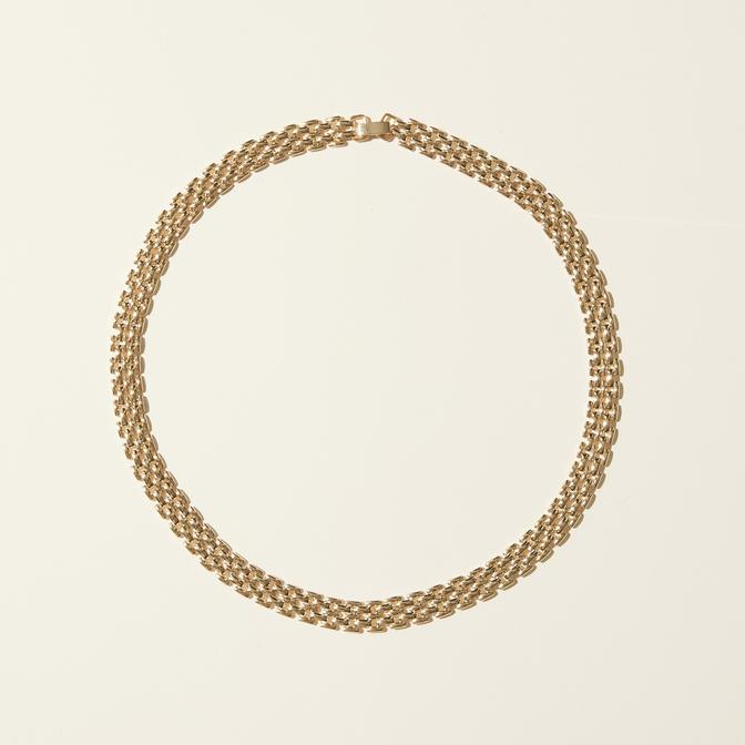 Maslo Jewelry | Small Flat Chain Necklace | Hazel & Rose | Minneapolis