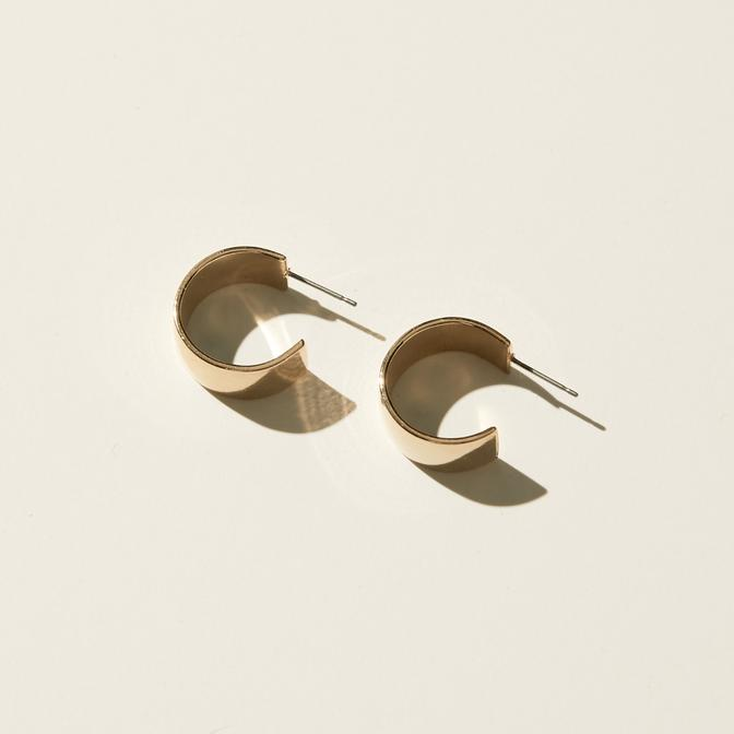 Maslo Jewelry | Small Flat Hoop Earrings | Hazel & Rose | Minneapolis