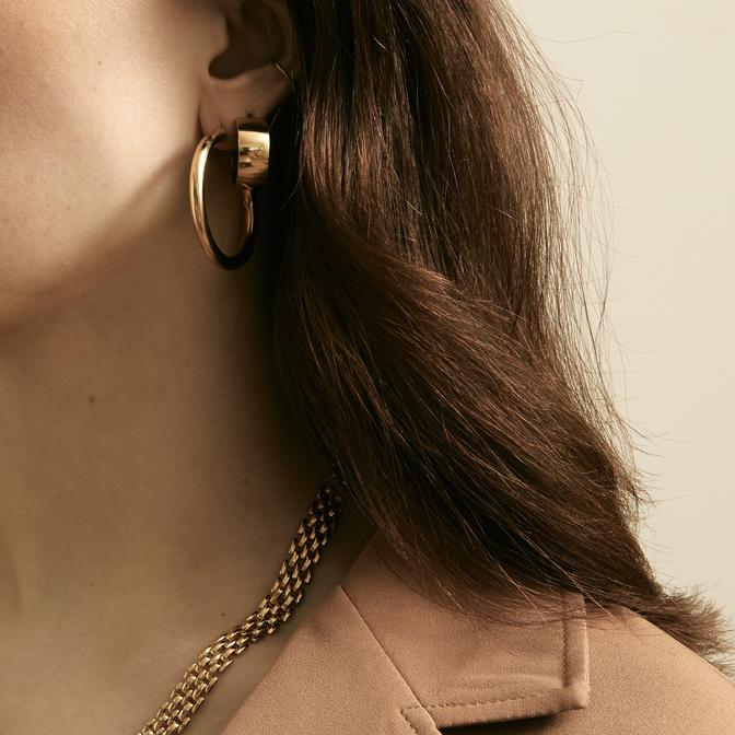 Maslo Jewelry | Large Thin Gold Hoops | Hazel & Rose | Minneapolis