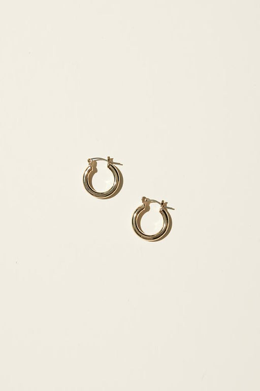 Tiny Latch Hoop Earrings