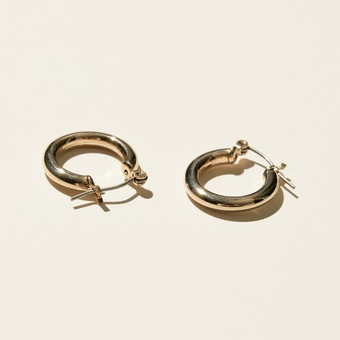 Maslo Jewelry | Tiny Latch Hoop Earrings| Hazel & Rose | Minneapolis