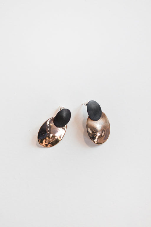 Cozy Earring Bronze/Black