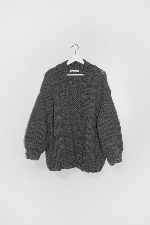 ESSENTIAL CARDIGAN | CHARCOAL