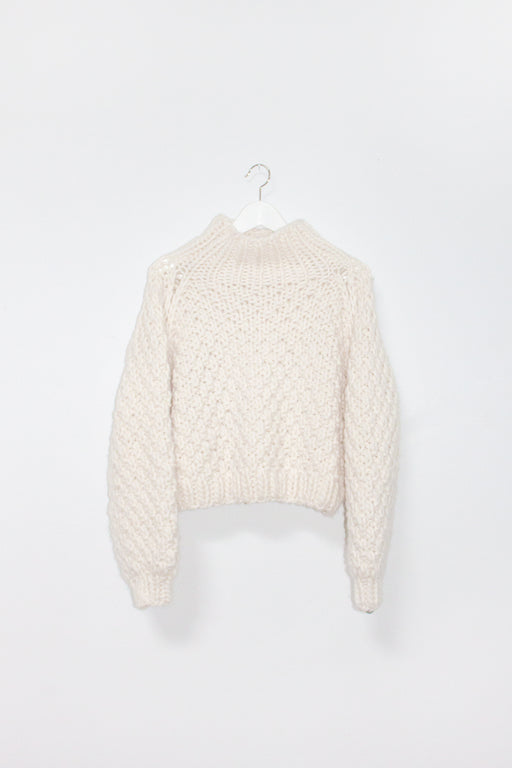 NOT TO BE MOCKED SWEATER | WINTER WHITE