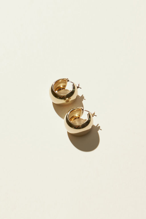 Maslo Jewelry | Mini Domed Hoop Earrings | Hazel & Rose | Minneapolis