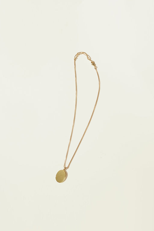Maslo Jewelry | Oval Pendant Necklace | Hazel & Rose | Minneapolis