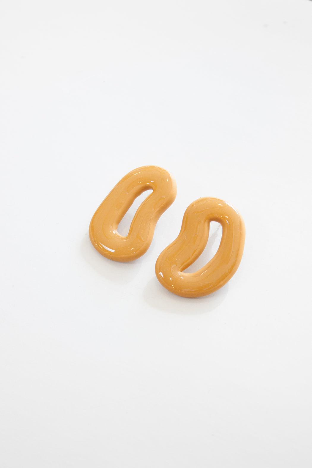 Outline Earrings | High Gloss Saffron