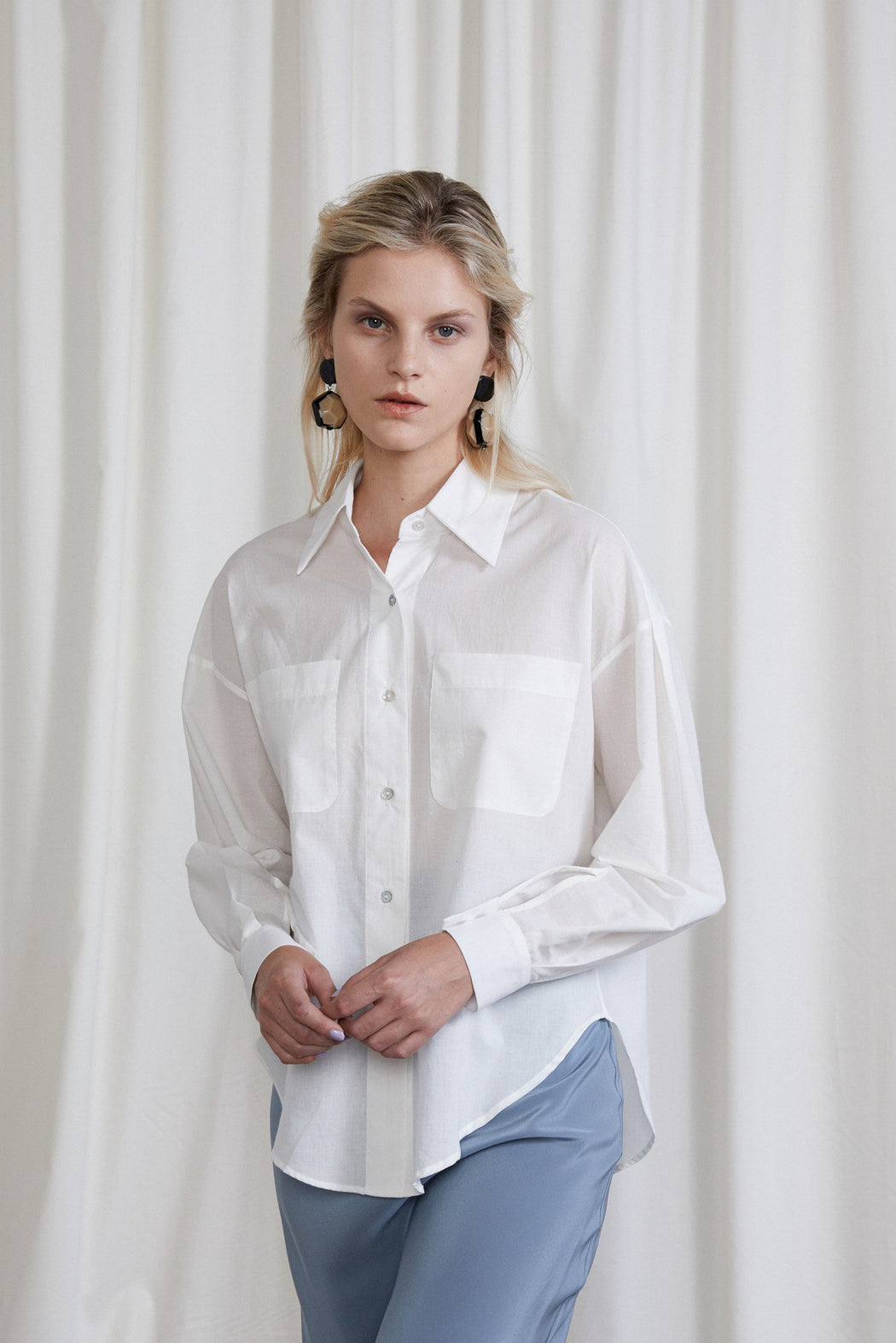 OVNA OVICH | SHERMAN SHIRT | CHALK | HAZEL & ROSE | MINNEAPOLIS
