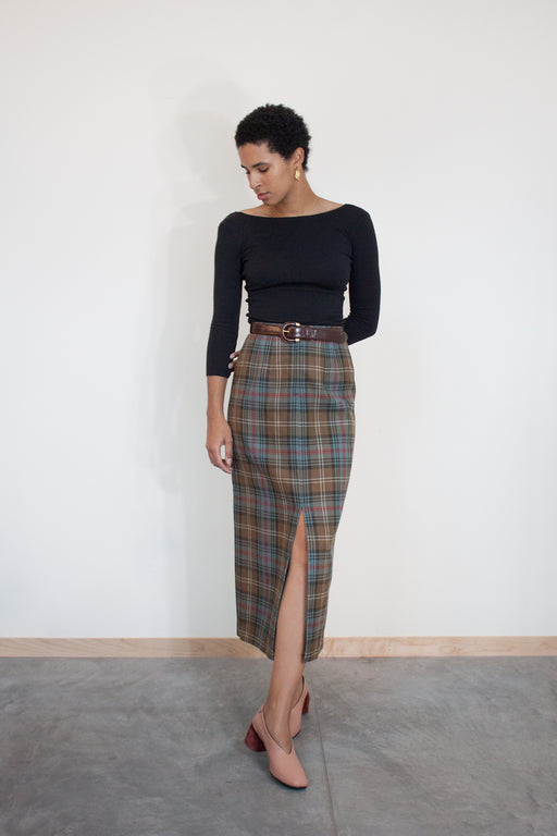 Vintage Wool Skirt Plaid