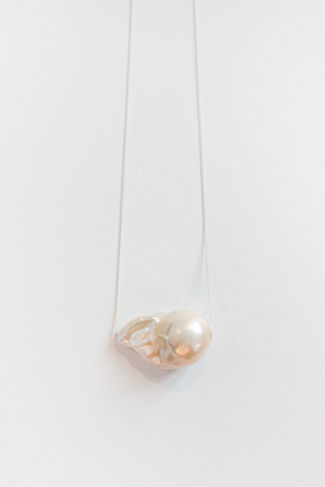 Sterling Silver Baroque Pearl Necklace 02