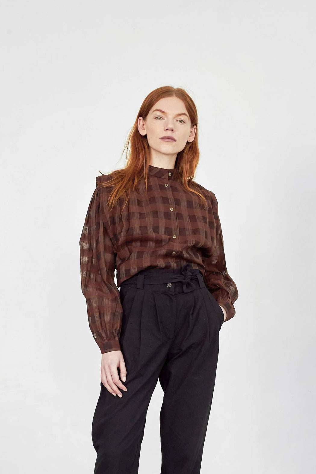 Brooklyn Blouse | Umber