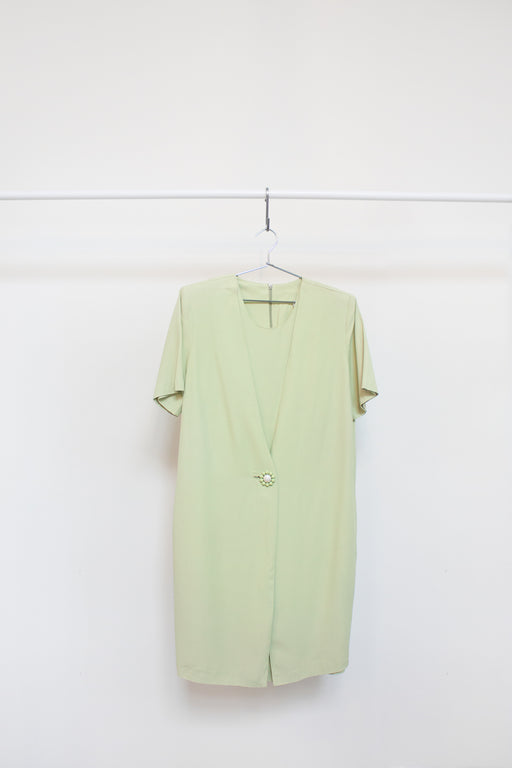 Vintage Lime Shift Dress