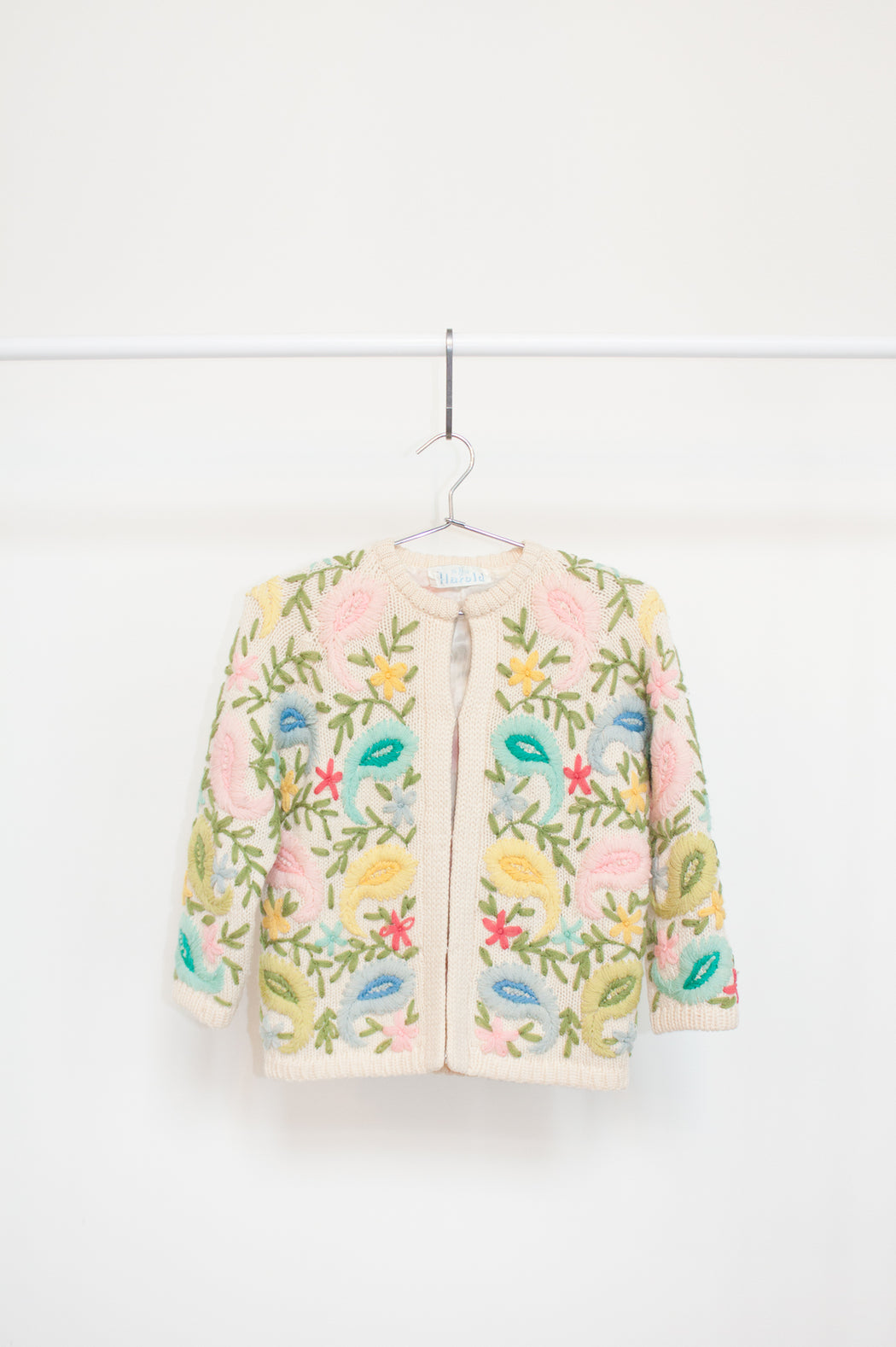1980's Vintage Floral Wool Cardigan | Hazel & Rose | Minneapolis, MN