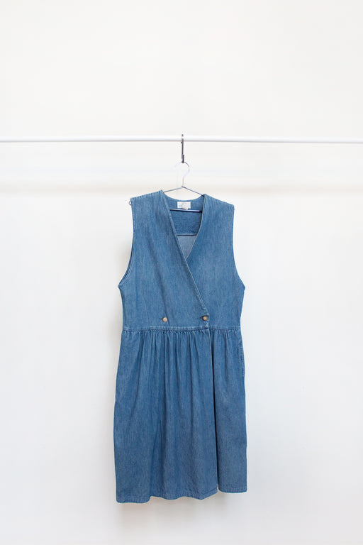 Vintage Denim Vest Dress