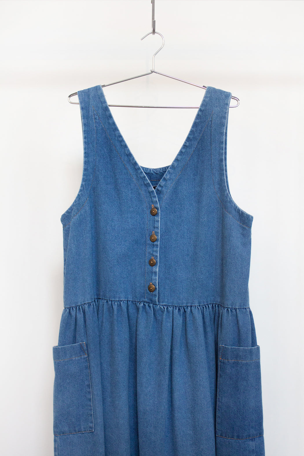 Vintage Denim Button Jumper