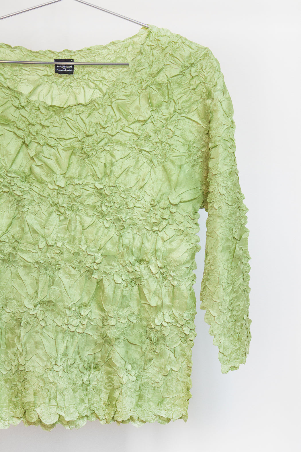 Vintage Lime Crinkle Top | Hazel & Rose | Minneapolis, MN