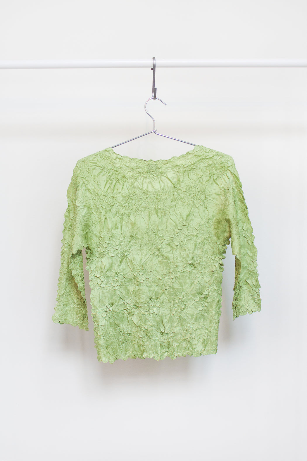 Vintage Lime Crinkle Top