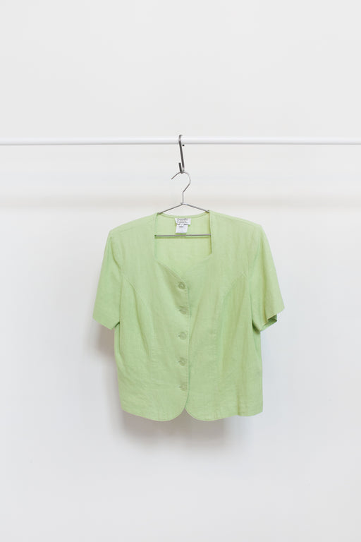 Vintage Lime Green Button Up Shirt | Hazel & Rose | Minneapolis, MN
