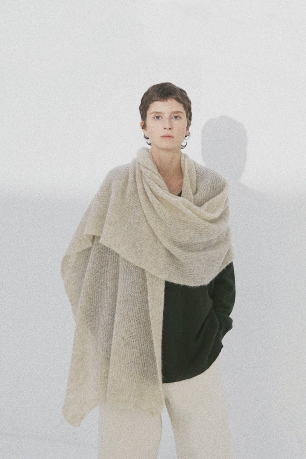 Monica Cordera | Soft Alpaca Maxi Scarf | Beige | Hazel & Rose | Minneapolis