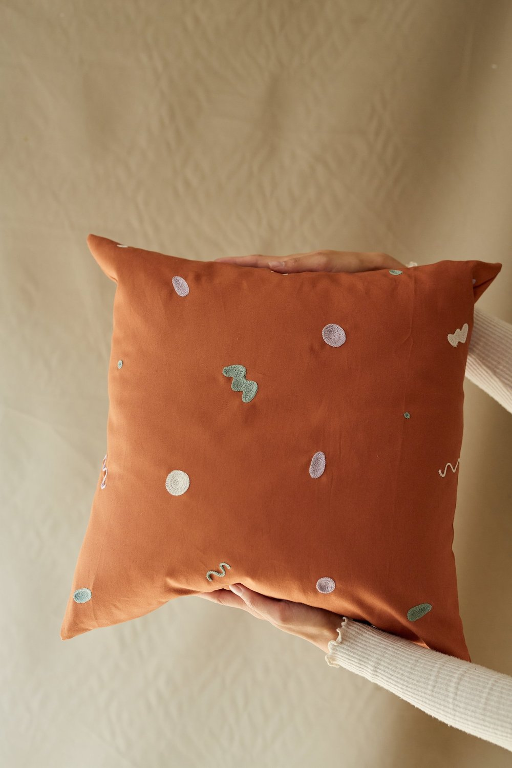 Squiggle Embroidery Pillow