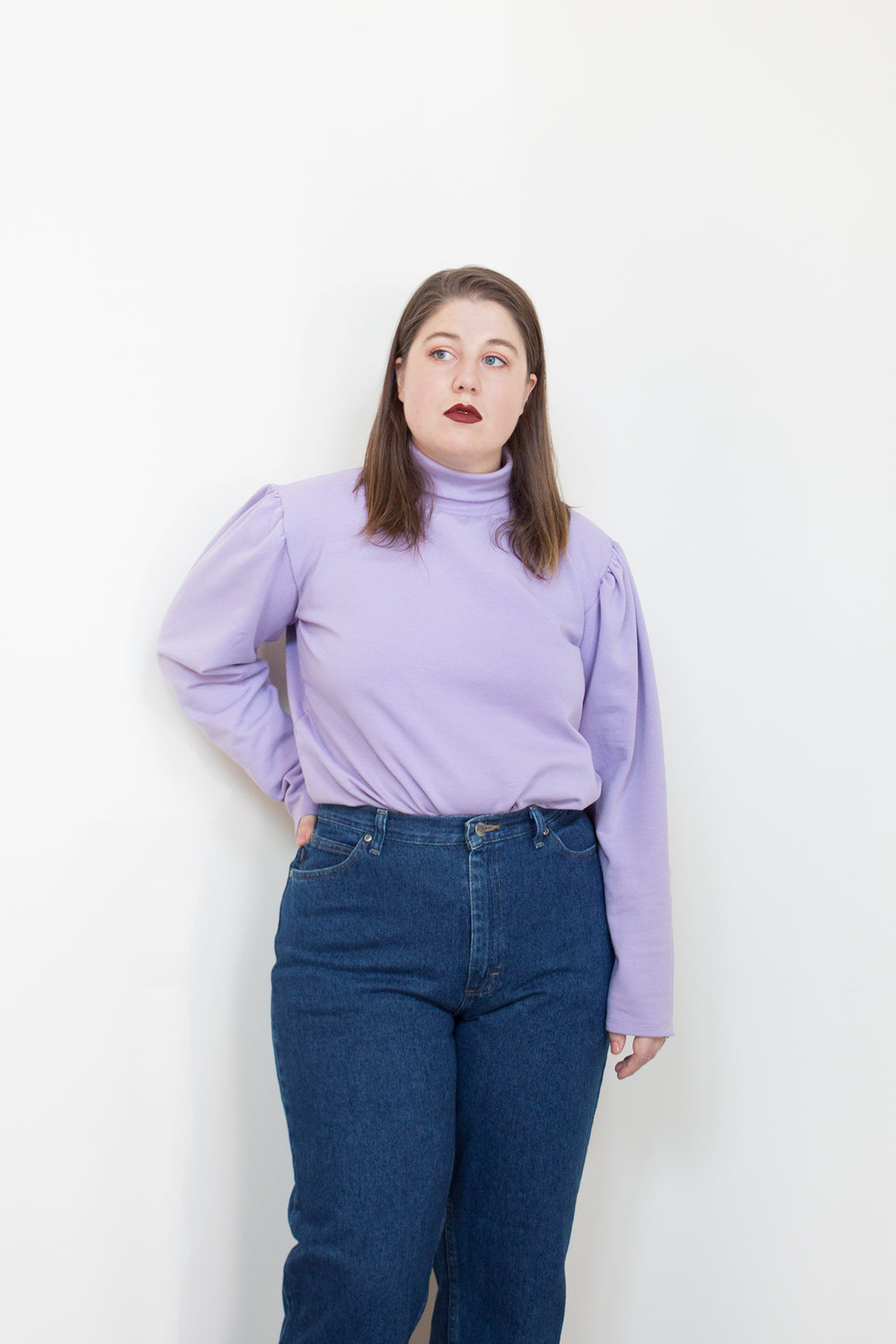 By Signe Sustainable Fashion | Princess Sweat Purple | Hazel & Rose