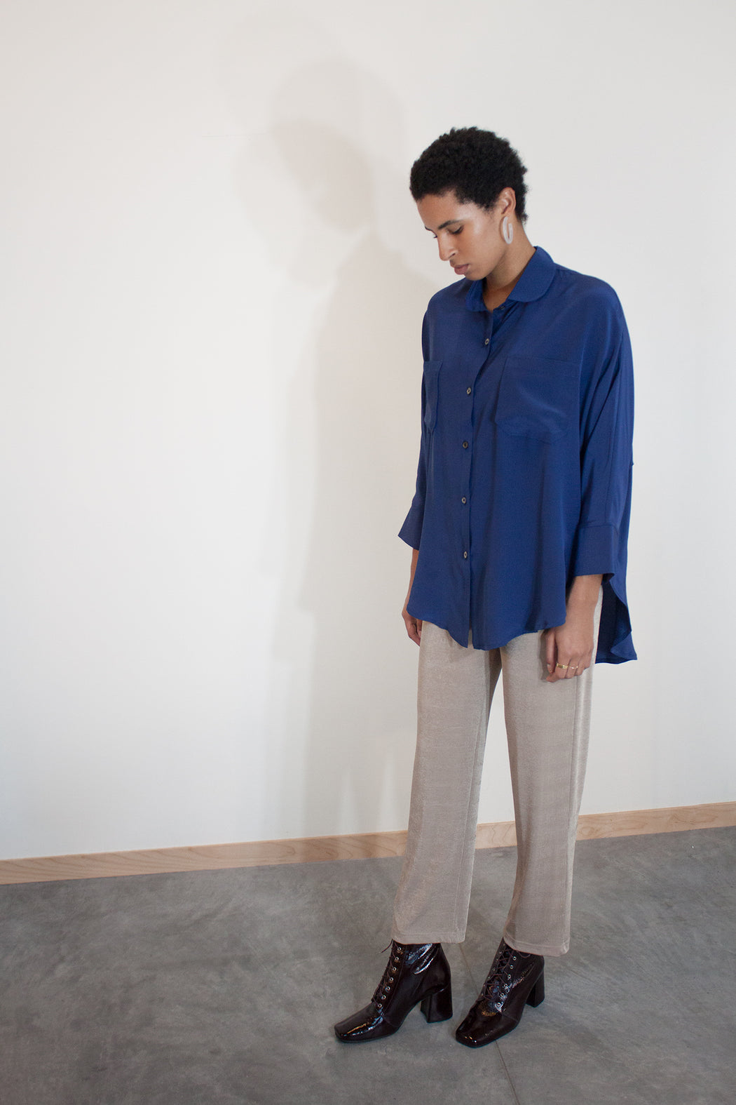 Steph Round Collar Blouse