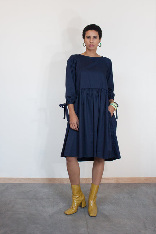 Eliza Faulkner Ethical Fashion | Tallulah Dress Navy | Hazel & Rose