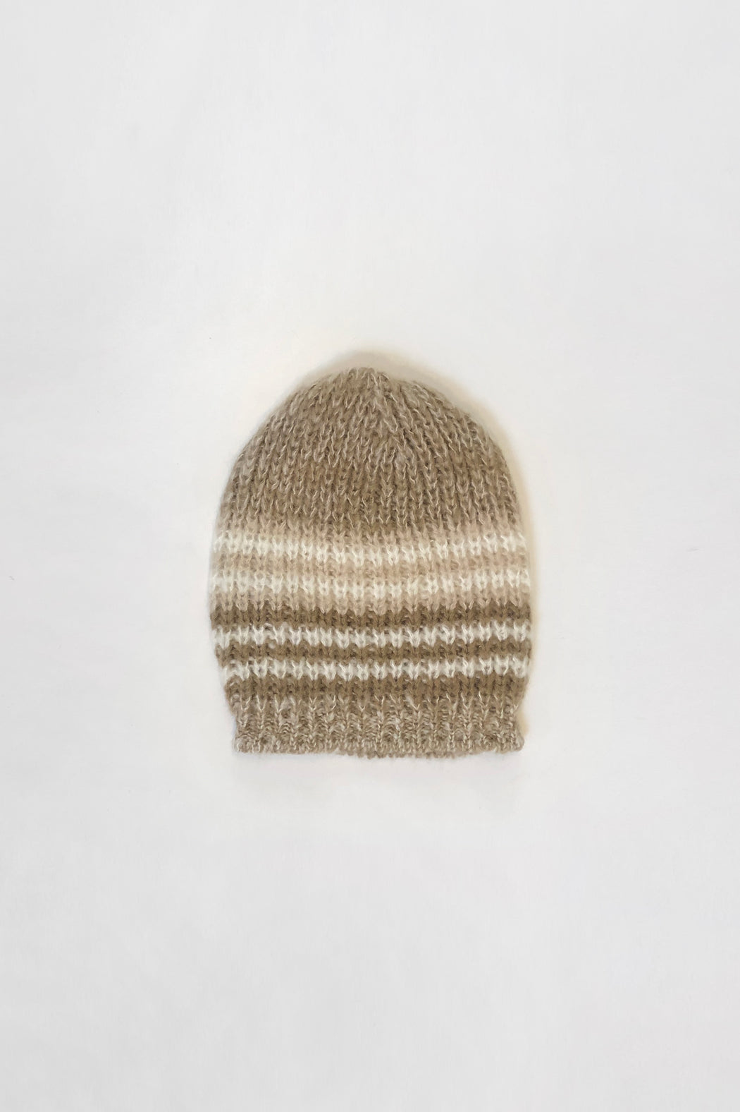 Classic Knit Beanie | Tan Stripe