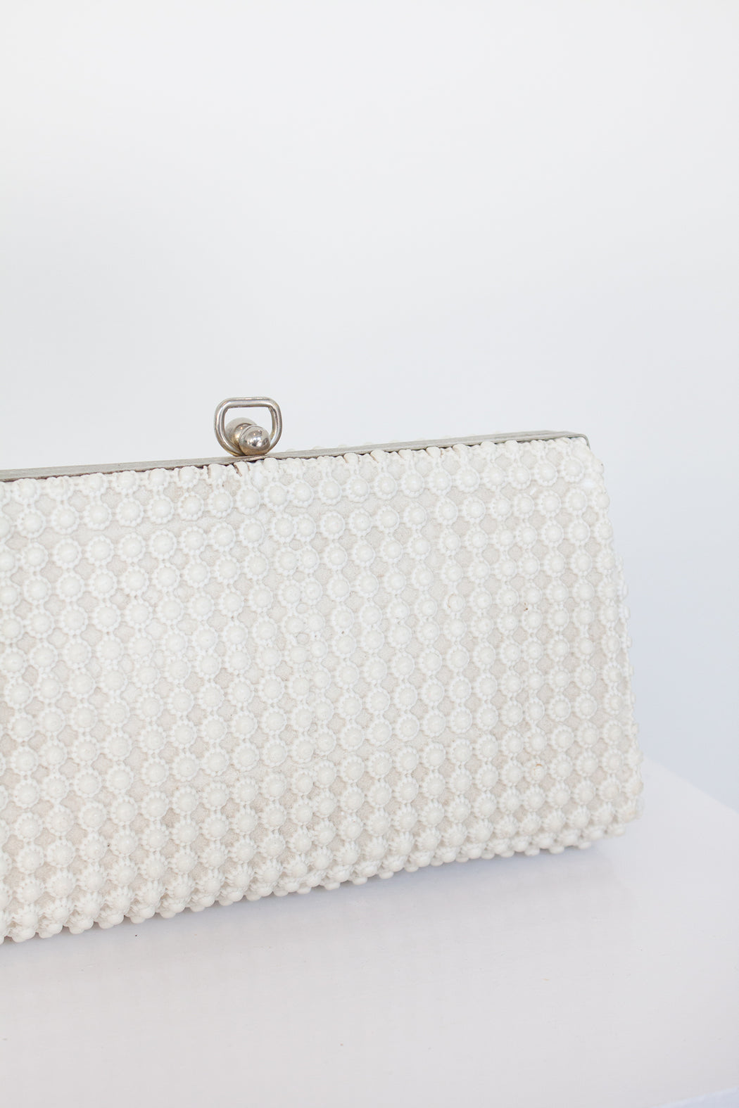 Vintage Textured Ivory Clutch | Hazel & Rose | Minneapolis, MN