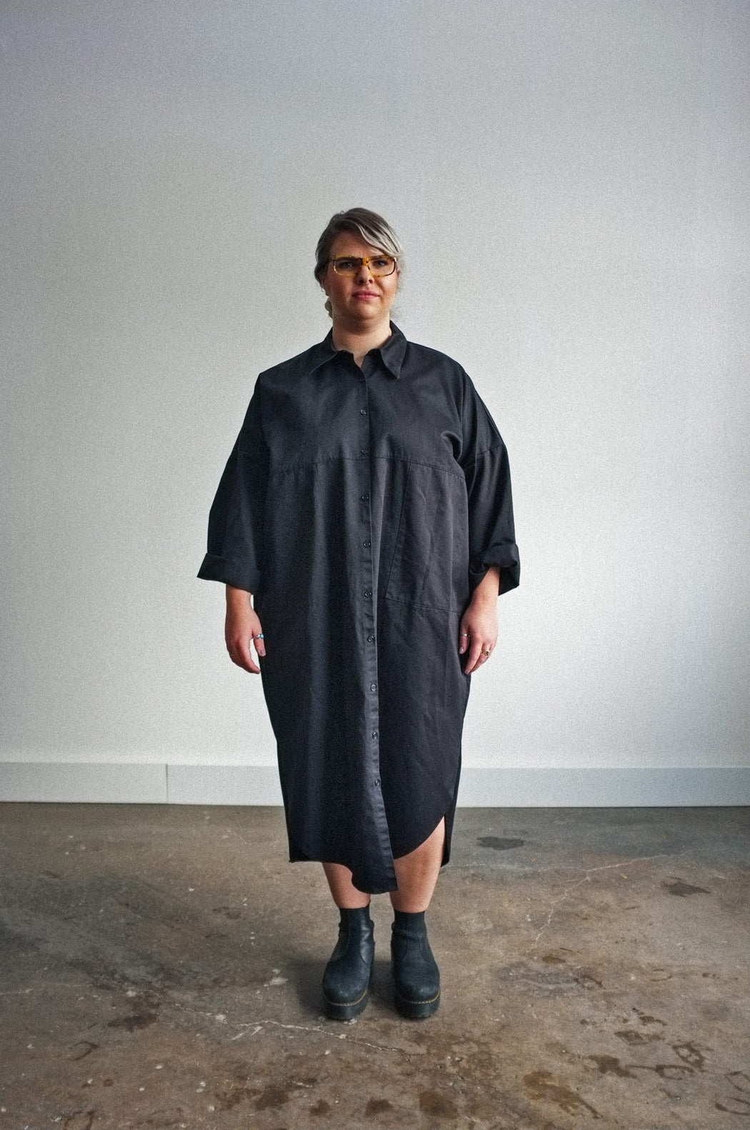 Ines Duster/Dress | Black Cotton