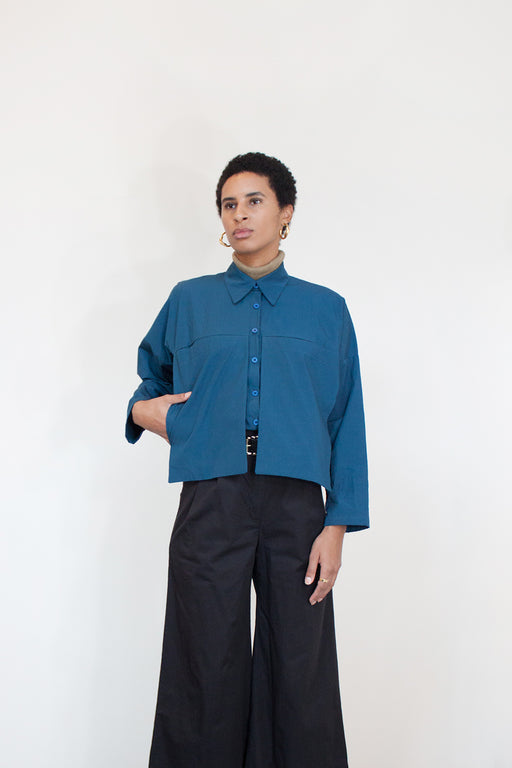 Winsome Goods Ethical Fashion | Nina Blouse Royale Blue | Hazel & Rose