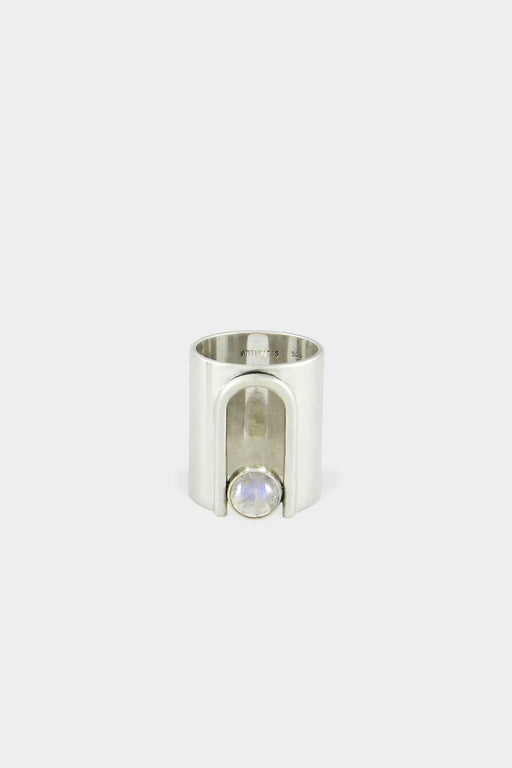 Artifacts NYC | Sterling Silver Archway Ring | Moonstone | Hazel & Rose | Minneapolis