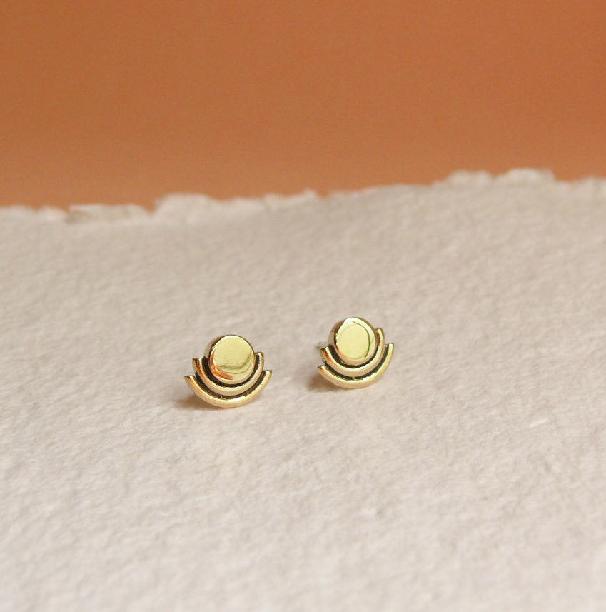 Artifacts NYC | Arc Studs | Brass | Hazel & Rose | Minneapolis