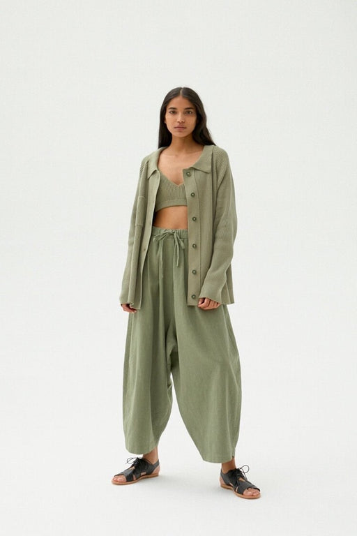 Mónica Cordera | MAXI RAMIE PANTS | SAGE GREEN | Hazel & Rose | Minneapolis