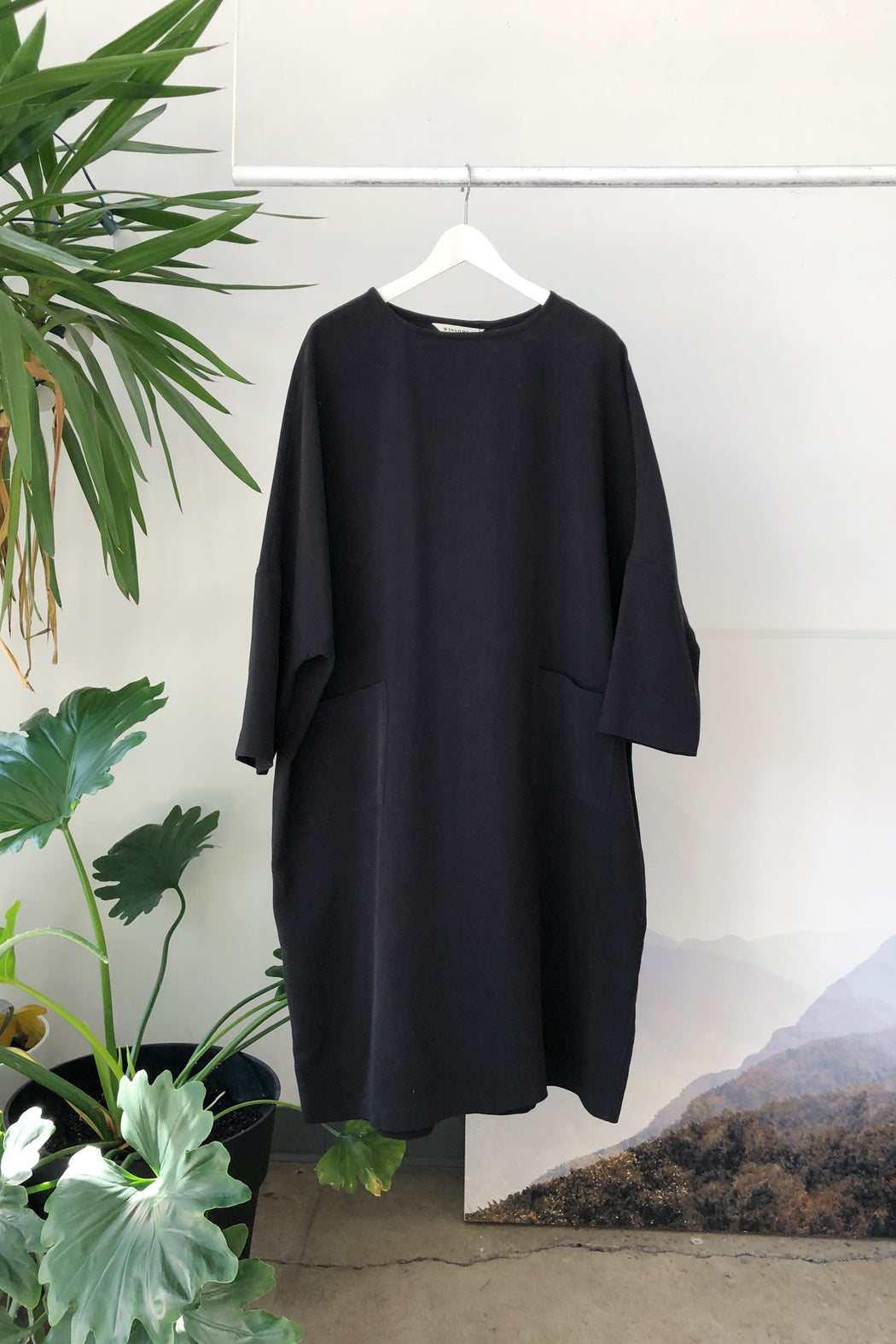 Moore Dress | Black Woven Silk Limited