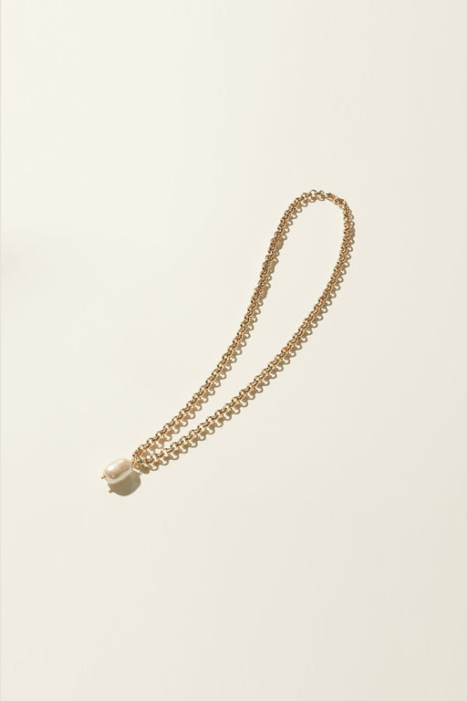 Rolo Pearl Necklace