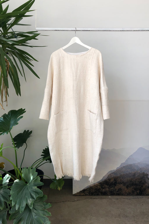 Moore Dress | Ivory Mudcloth