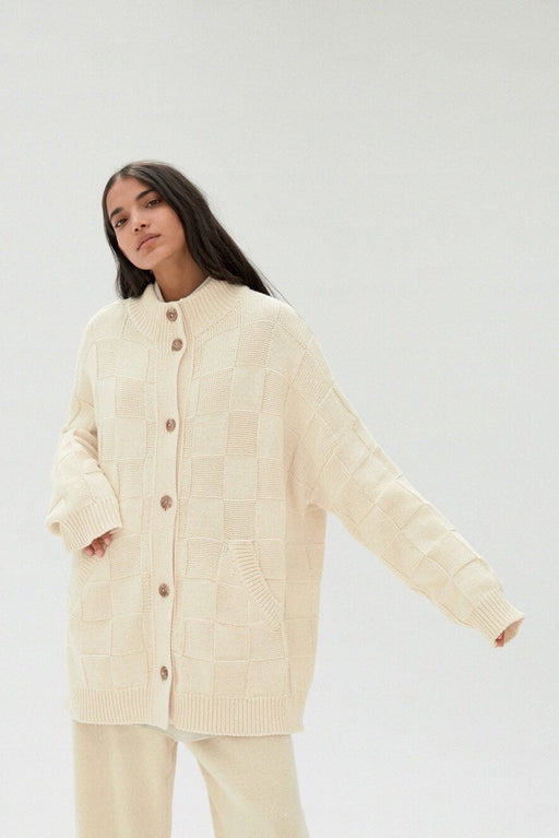 COTTON CARDIGAN | NATURAL