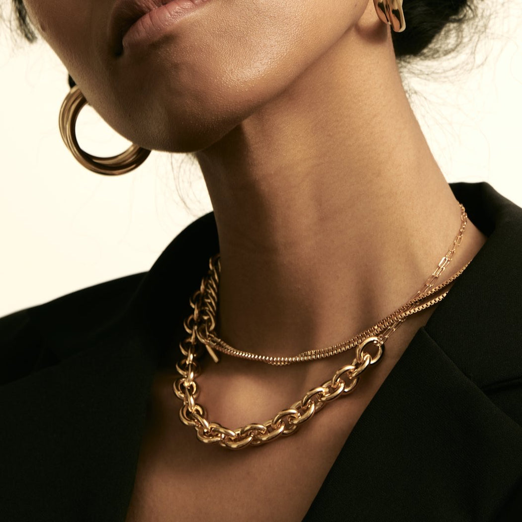 Maslo Jewelry | Round Chain Necklace | Hazel & Rose | Minneapolis
