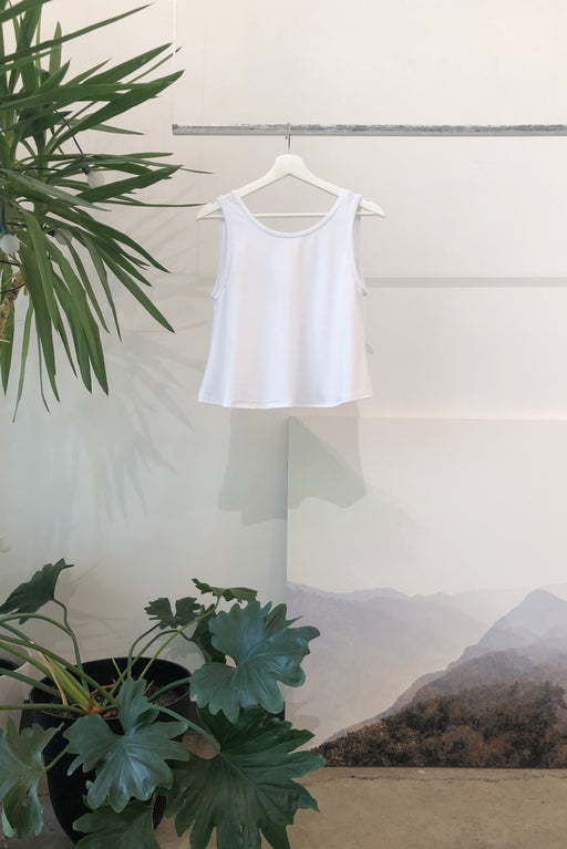 Reversible Crop Tank | Bright White