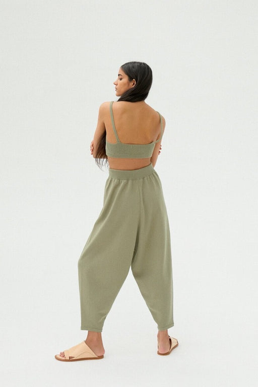 Mónica Cordera | KNIT PANTS | Sage Green | Hazel & Rose | Minneapolis