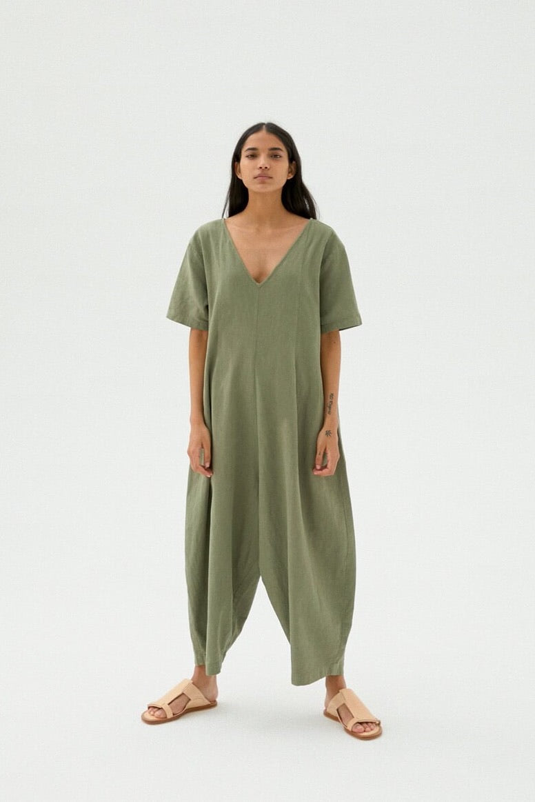Mónica Cordera | Maxi Jumpsuit | Sage Green | Hazel & Rose | Minneapolis
