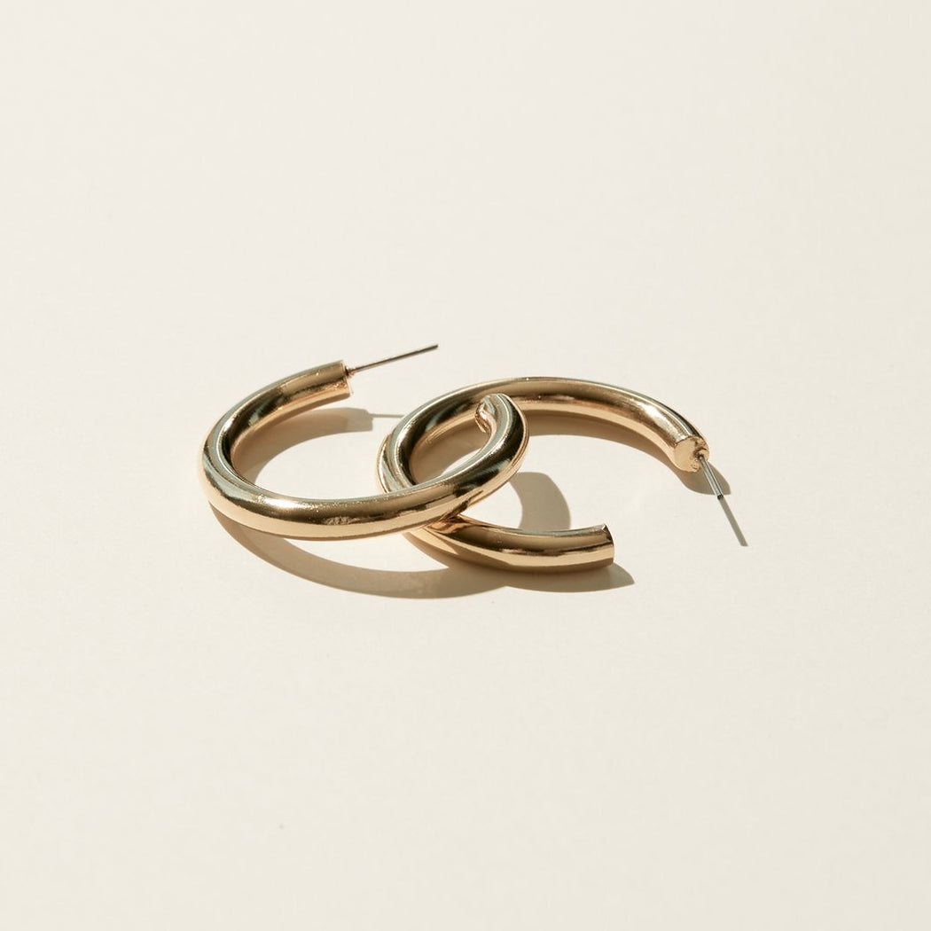 Maslo Jewelry | Small Thin Hoops | Hazel & Rose | Minneapolis