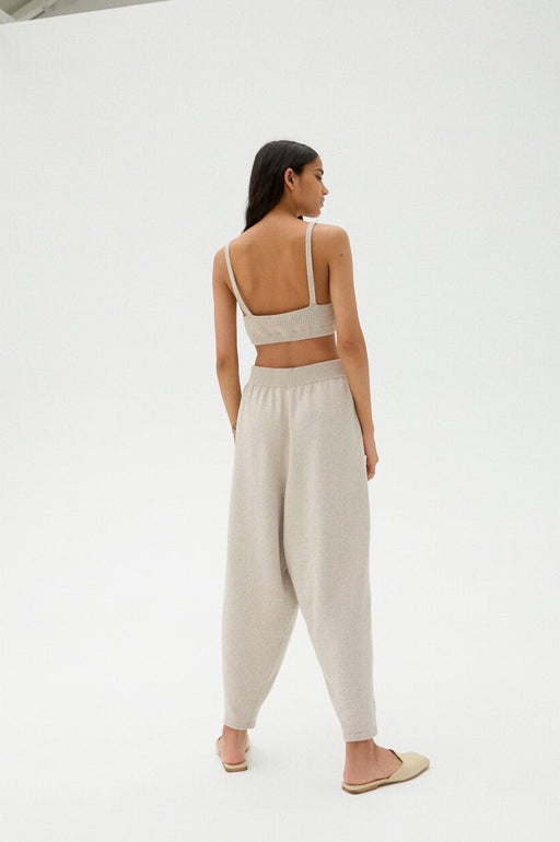 Mónica Cordera | KNIT PANTS | Pale Linen | Hazel & Rose | Minneapolis